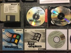 Distintos soportes para la instalación de varias versiones de Windows